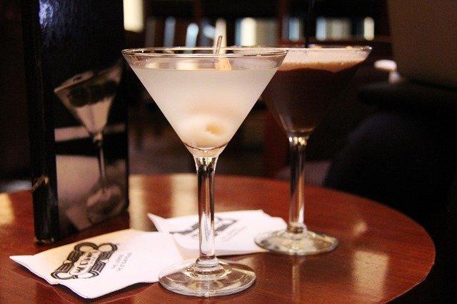 making martini
